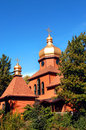 Cupola cross society st john top simple monastery upper penninsula michigan building along order russian orthodox architecture Stock Photography