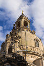 Cupola of the frauenkirche church our lady in dresden Stock Photos