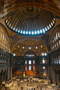 The cupola of Hagia Sophia mosque, Istanbul, Royalty Free Stock Photo