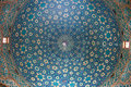 Cupola in jameh mosque yazd iran Royalty Free Stock Image