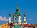 Cupola of st andrew s church kyiv ukraine in Royalty Free Stock Images
