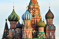 Cupola of St. Basil's Cathedral Royalty Free Stock Photo