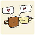 Cuppa Love spark Royalty Free Stock Photo