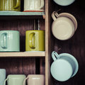 Cups art of in vintage style Royalty Free Stock Image