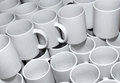Cups background stacked together Stock Image