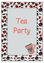 Cups with cards suits frame card vector Stock Photography