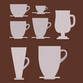 Cups design over background vector illustration Royalty Free Stock Image
