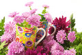 Cups in flowers Royalty Free Stock Images