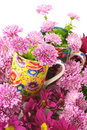 Cups in flowers Royalty Free Stock Photos