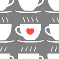 Cups seamless pattern
