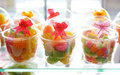 Cups of Thai sweetmeats Royalty Free Stock Photography