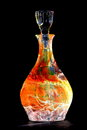 Cur Glass Decanter Bottle Orange Royalty Free Stock Photography