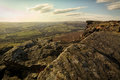 Curbar Edge, Peak District, Derbyshire Royalty Free Stock Photo