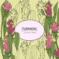 Curcuma flower card