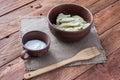 The curd fruit dumpling Royalty Free Stock Photo