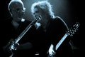 The cure robert smith and reeves gabrels of performing at primavera sound music festival in barcelona Stock Images