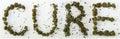 Cure Spelled With Marijuana Royalty Free Stock Photo
