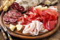 Cured meat platter Royalty Free Stock Photo