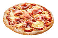Cured parma ham on a Traditional Italian pizza Royalty Free Stock Photo