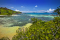 Curieuse island seychelles lookout over the turtle pond Stock Image
