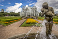 Curitiba s botanic garden in parana brazil with its famous greenhouse architecture Royalty Free Stock Photo