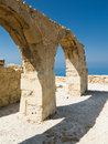Curium arch Cyprus Stock Photos