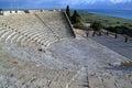 Curium griechisch romanischer amphitheatre in limassol zypern Lizenzfreie Stockfotografie