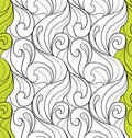 Curl floral seamless pattern combo Stock Photos