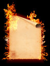 Curl page  paper in fire Stock Photo