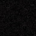 Curle and floral seamless background with waves, dots, curve lines Royalty Free Stock Photo