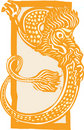 Curled Chinese Dragon Color Royalty Free Stock Photos