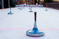 Curling on ice Royalty Free Stock Photos