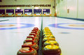 Curling sheets Royalty Free Stock Image