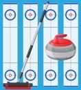 Curling sport game
