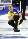 Curling women sweden prytz maria s follows her shot at the ford world s championship march in saint john canada Stock Photo