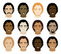 Curly Afro Men Faces Royalty Free Stock Images