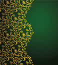 Curly border vector floral seamless decorative Stock Image