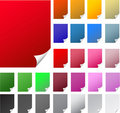 Curly edge colorful realistic papers Royalty Free Stock Photos