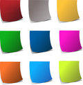 Curly edge colorful realistic papers Royalty Free Stock Photography