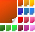 Curly edge colorful realistic papers Stock Photo