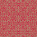 Curly ornamental pattern a red Stock Photo