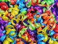 Curly Ribbons Background for Celebrations Stock Photography
