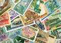 Currencies from around the world, paper banknotes. Royalty Free Stock Photo