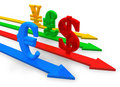 Currencies concept Stock Photos