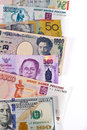 Currencies selection of different world Royalty Free Stock Photography