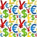 Currencies Symbols Seamless Pattern