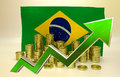 Currency appreciation brazilian real illustration d render Stock Photo