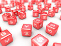 Currency dice Royalty Free Stock Photography