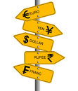 Currency direction Royalty Free Stock Photo