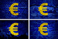 Currency euro background on the wall Royalty Free Stock Photos